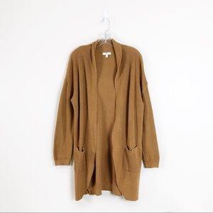 BP Longline Gold Open Knit Cardigan Large